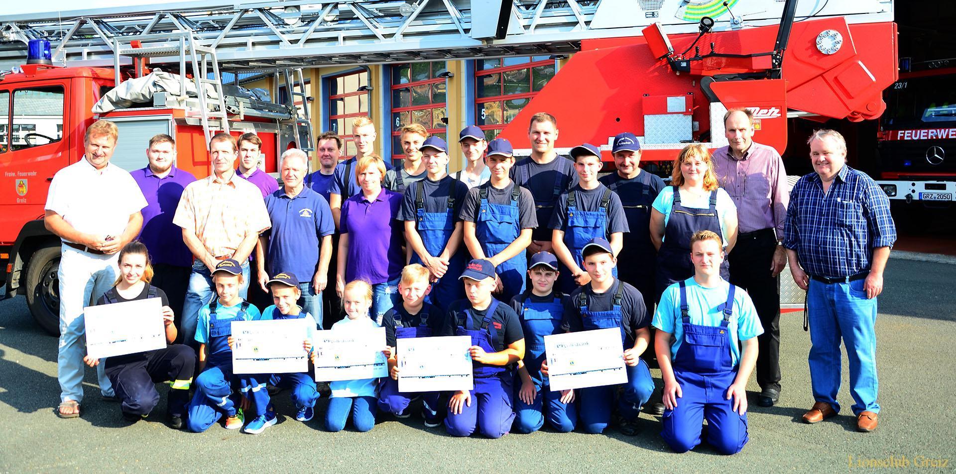Lions Club Greiz unterstützt Arbeit von fünf Jugendfeuerwehren