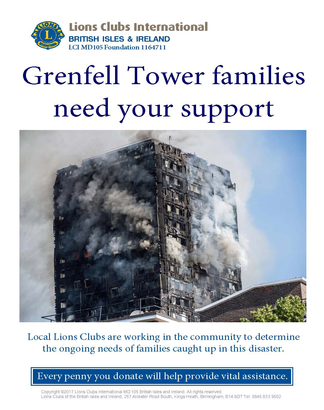 terrible disaster at Grenfell Tower in London