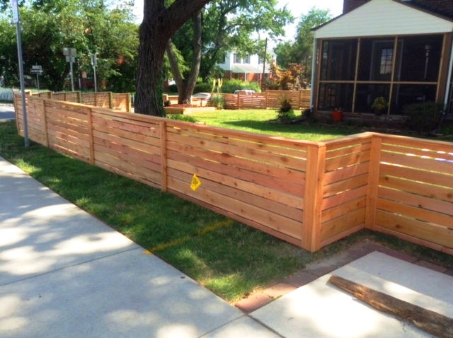Cedar Horizontal Board Fence