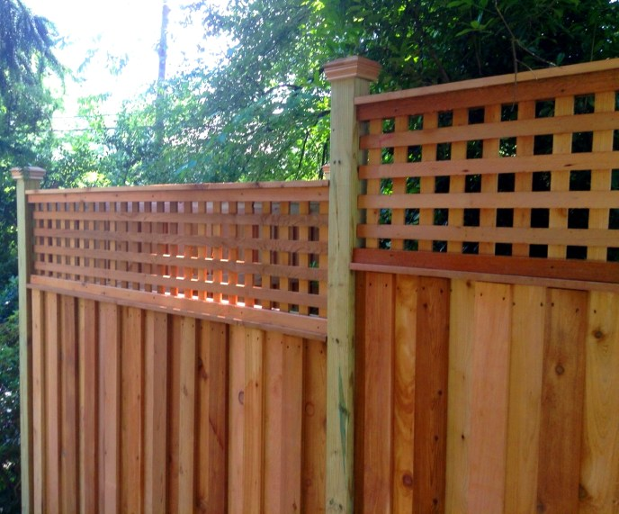 Cedar Privacy with Lattice Arlington Arlington County VA by Lions Fence 4