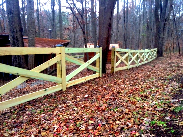 Four Board Estate Fence Clifton Fairfax County VA by Lions Fence 2