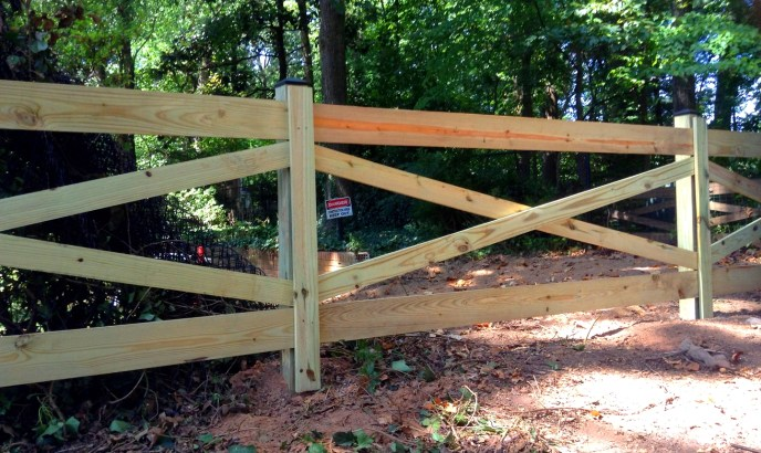Four Board Estate Fence Clifton Fairfax County VA by Lions Fence 4