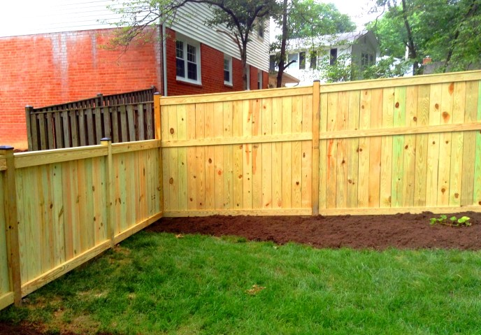 Solid Board Treated Pine Vienna Fairfax County Northern Virginia by Lions Fence 3