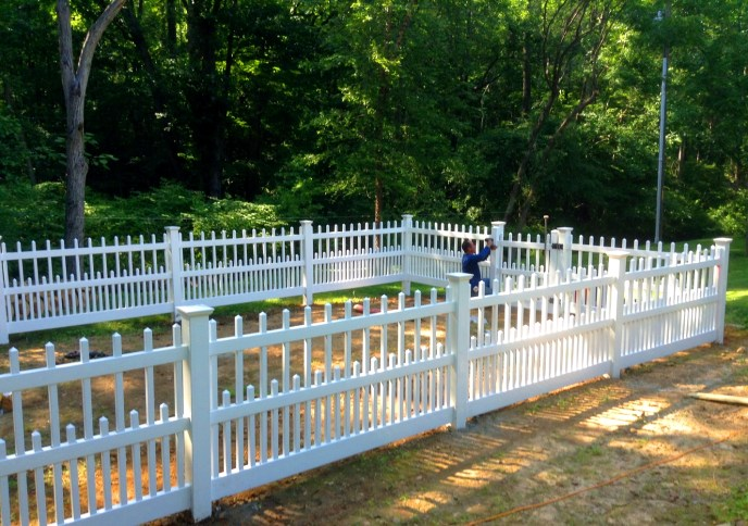 Vinyl Picket Fence Clifton Fairfax County VA 6