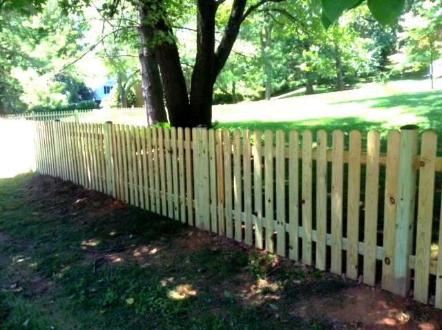 dog ear picket fence mclean fairfax county VA 3