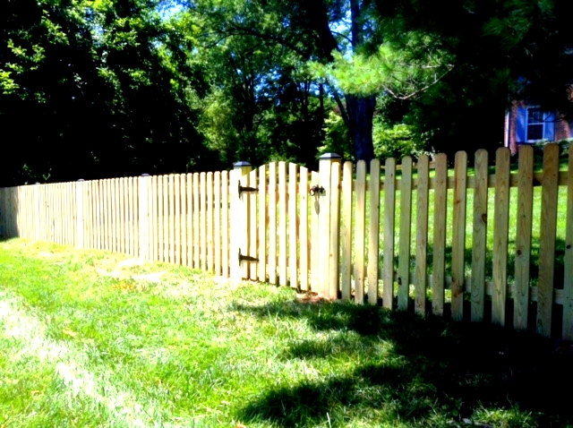 dog ear picket fence mclean fairfax county VA 4