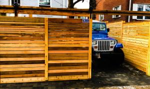 Cedar horizontal board barn door gate