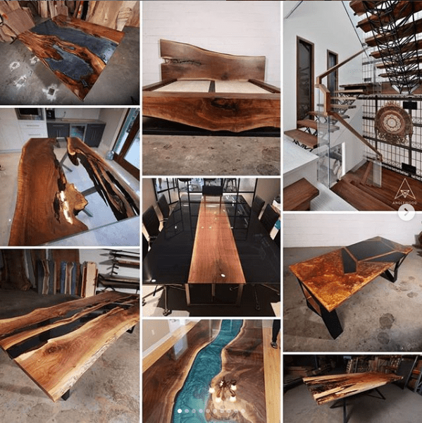 custom wood tables and furniture