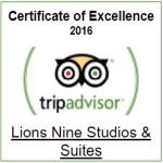TRIPADVISOR AWARD- LIONS NINE 2016 -PELION