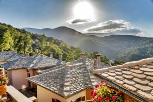 LIONS NINE -roofs- mountain view-pelion hotel