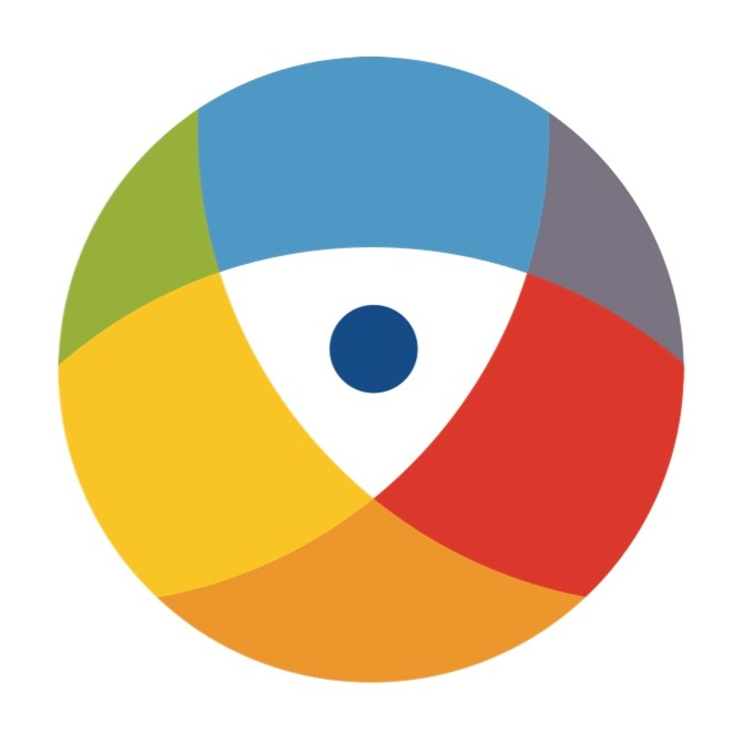 lions vision services logo colorful eyeball