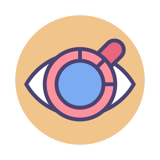 eyeball with magnifying glass