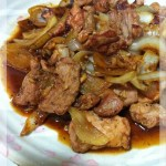 生薑豚肉燒 (豚肉の生姜焼き)