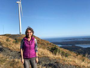 Annie B on the top of Pillar Mountain overlooking Kodiak