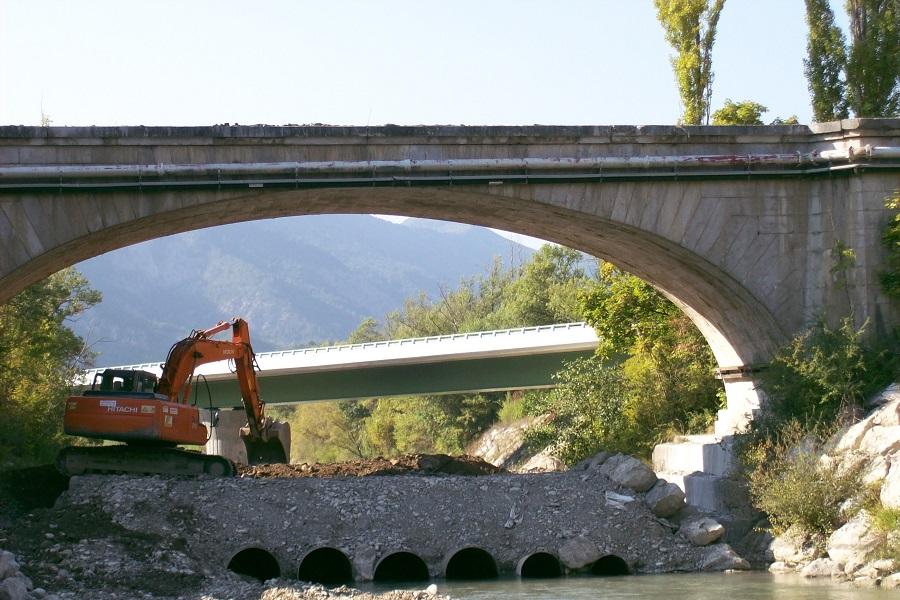 Démolition pont des chaînes RD 93