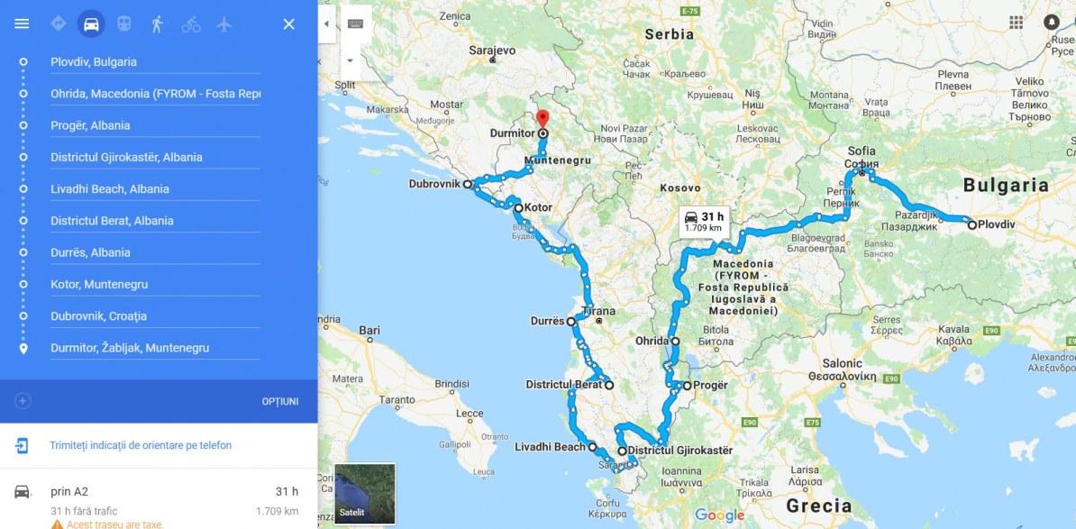 Recomandare De Traseu Cu Mașina Prin Balcani și Cheltuieli Lipa Lipa