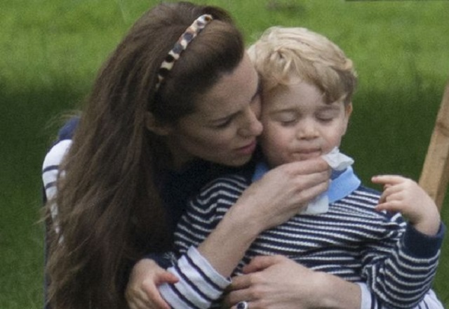 KATE MIDDLETON AND SON GEORGE