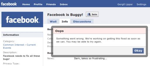 Facebook is buggy!