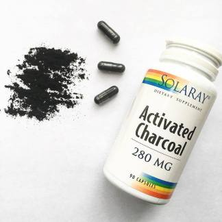 activated-charcoal capsules