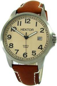 HEKTOR Klassik Sport Herrenuhr Sand Quarz Unterlagen Uhrband braun 10 ATM 40mm