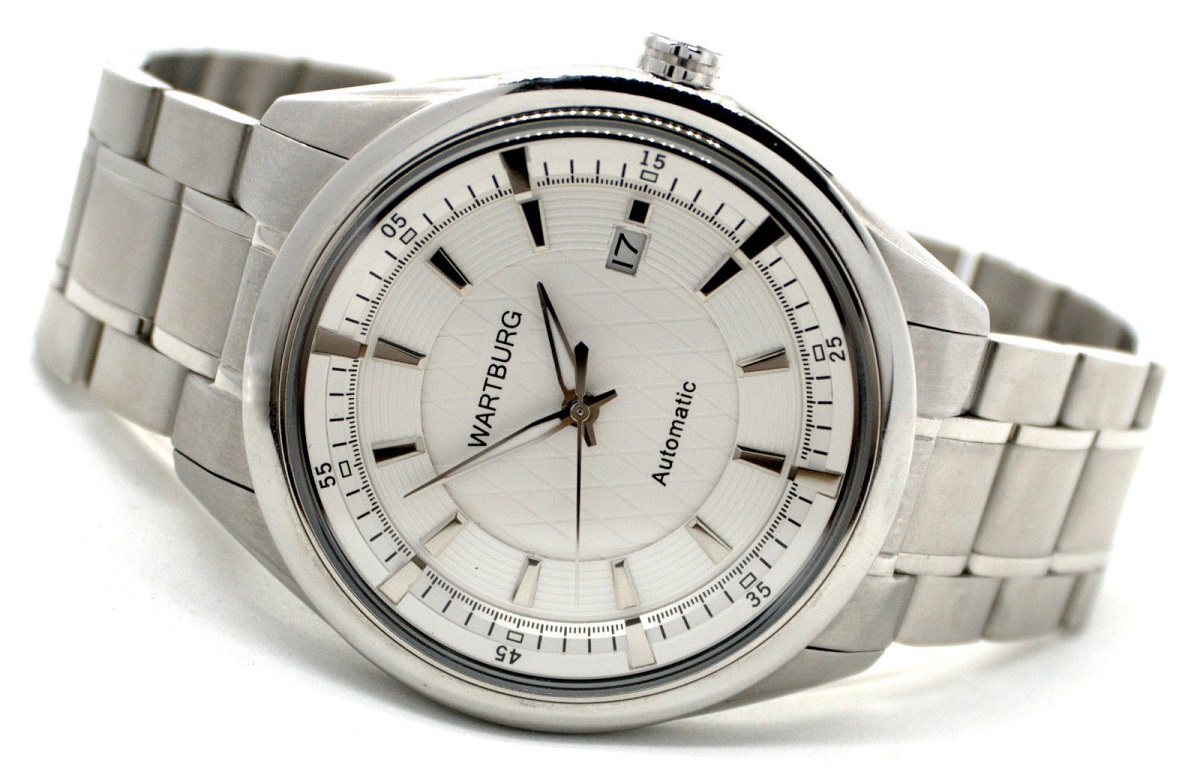 Wartburg Automatic Herren-Armbanduhr Edelstahlband freigestellt