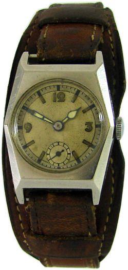 Unsignierte Handaufzug Herrenuhr Leder Unterlagenband vintage hand winding watch