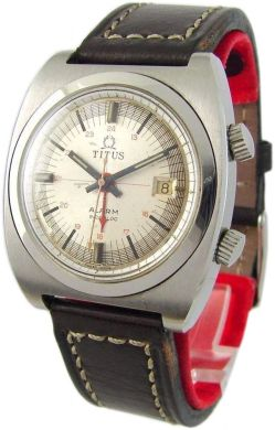 Titus Alarm Swiss Made Wecker mechanische Handaufzug Uhr vintage men gents watch