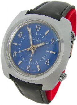 Emperor Wecker Container swiss made Herrenuhr 17Jewels handwinding alarm watch