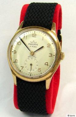 Philippe 17 Rubis Handaufzug Kleine Sekunde Uhr men gents watch wristwatch