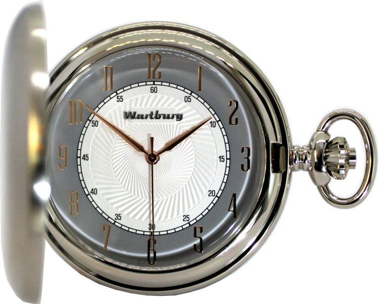 Wartburg Klassik 478 Herren Sprungdeckel Taschenuhr Savonette