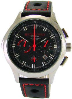 Riedenschild Chronograph Alarm für Cobra 11 Rallye Uhrband Leder schwarz rot