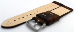 HEKTOR Herren Uhrenarmband aus Kamelleder braun vintage Naht weiß 22mm