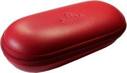 Omega Uhrbox Kunststoff Textil rot Reise und Service Etui Carre
