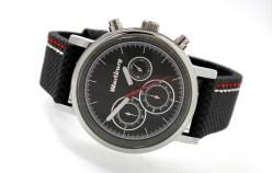 Wartburg-chrono-graues-Uhrenarmband-rot-weiss-