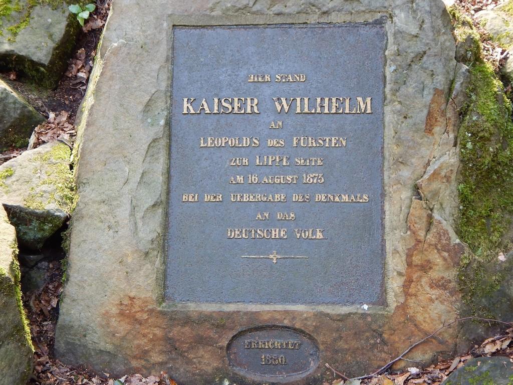 Gedenkstein Kaiser Wilhelm am Hermannsdenkmal