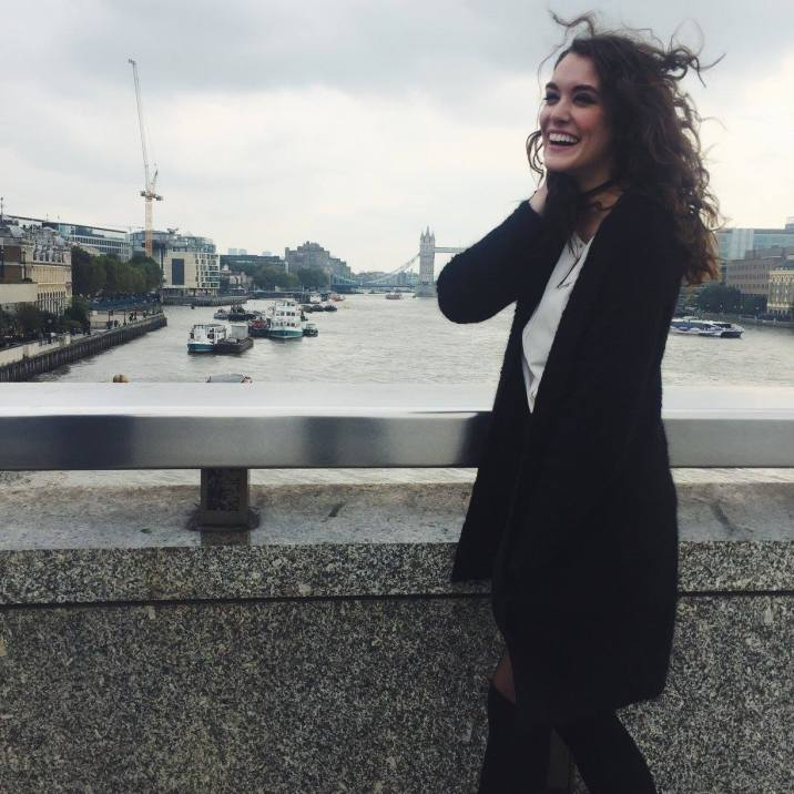 Having a laugh in front of the Tower Bridge!