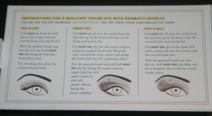 Bare Minerals Foiled Eye Tutorial interior
