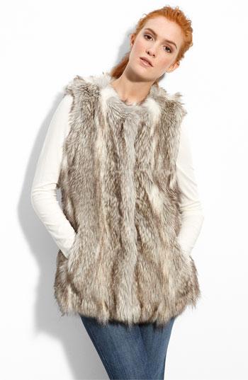 """Du Monde """"wolf"""" faux fur vest"""