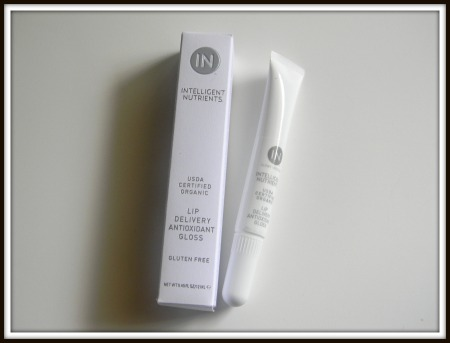 Intelligent nutrients usda certified organiz lip delivery antioxidant gloss