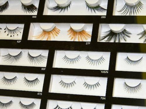 False eyelashes fantasy lashes at The Makeup Show New York City 2012