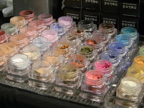 Naked Cosmetics eyeshadow at the Makeup Show New York City 2012