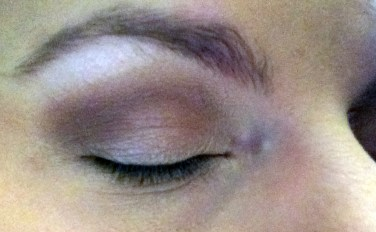 Baby on eyelid and Anaheim blended into crease