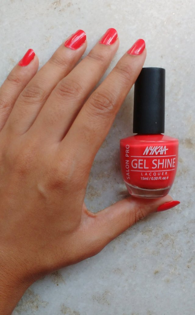 Nykaa Salon Shine Gel Nail Lacquer - Viva Mexico 201 | Review and Swatches