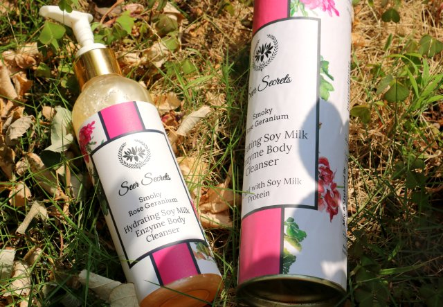 Seer Secrets Smoky Rose Geranium Hydrating Soy Milk Enzyme Body Cleanser | Review