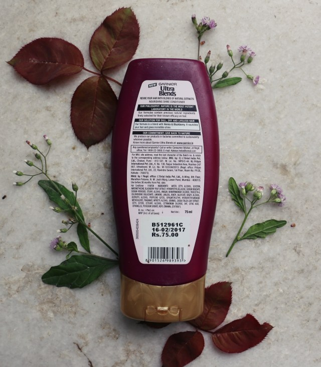 Garnier Ultra Blends Henna and Blackberry Nourishing Shine Conditioner | Review
