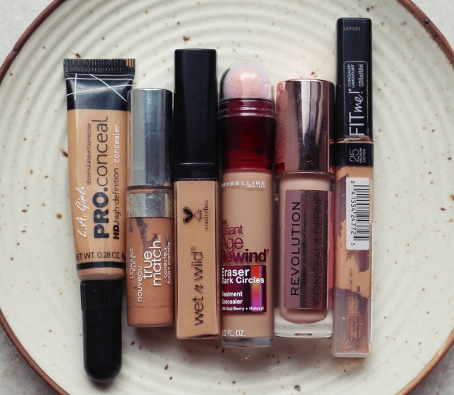 Battle of the Concealers | Loreal True Match vs Maybelline Fit Me vs Maybelline Age Rewind vs Wet n Wild Photo Focus vs L.A. Pro Conceal vs Makeup Revolution Conceal & Define Swatches Review
