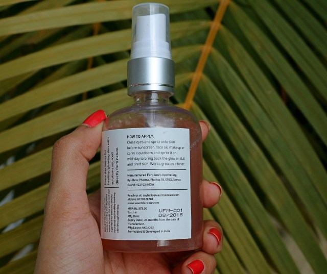 Vaunt Watermelon and Seaweed Face Mist | Review