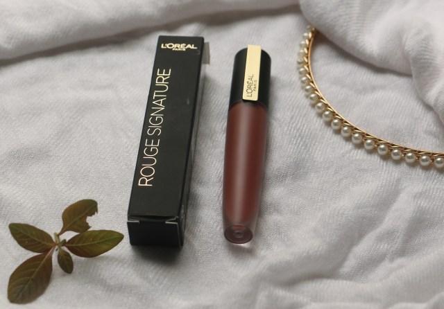 Loreal Paris Rouge Signature Matte Liquid Lipstick   I Explore   Review and Swatches