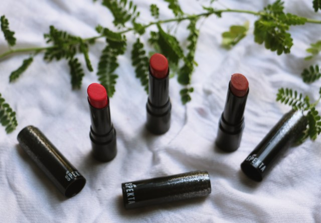 Spekta Cosmetics Matte Lipsticks - Divinity, Troublemaker, Cowgirl | Review and Swatches