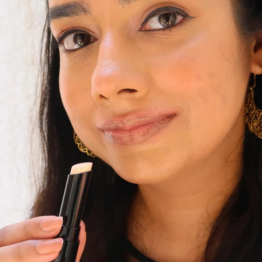 Spekta Shimmer Lipstick - MVP on NC35 skin tone